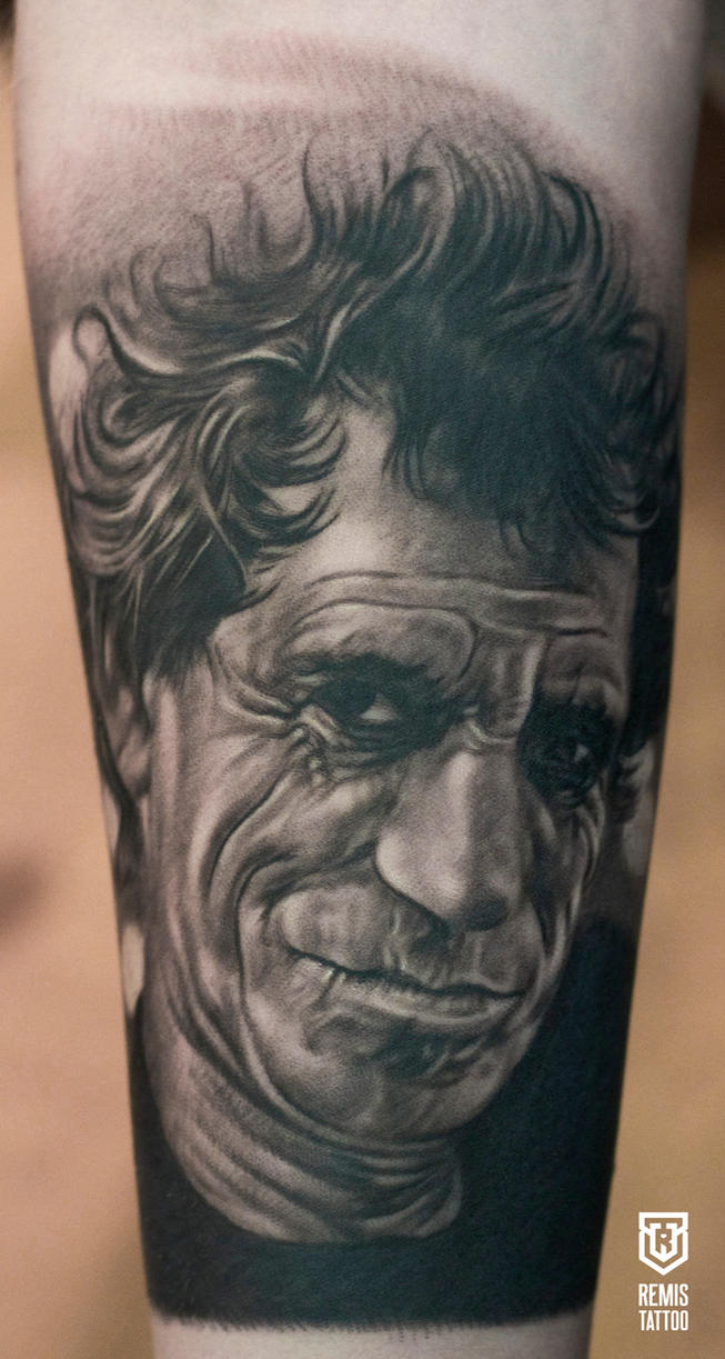 Realistic Portrait Tattoo by Remistattoo