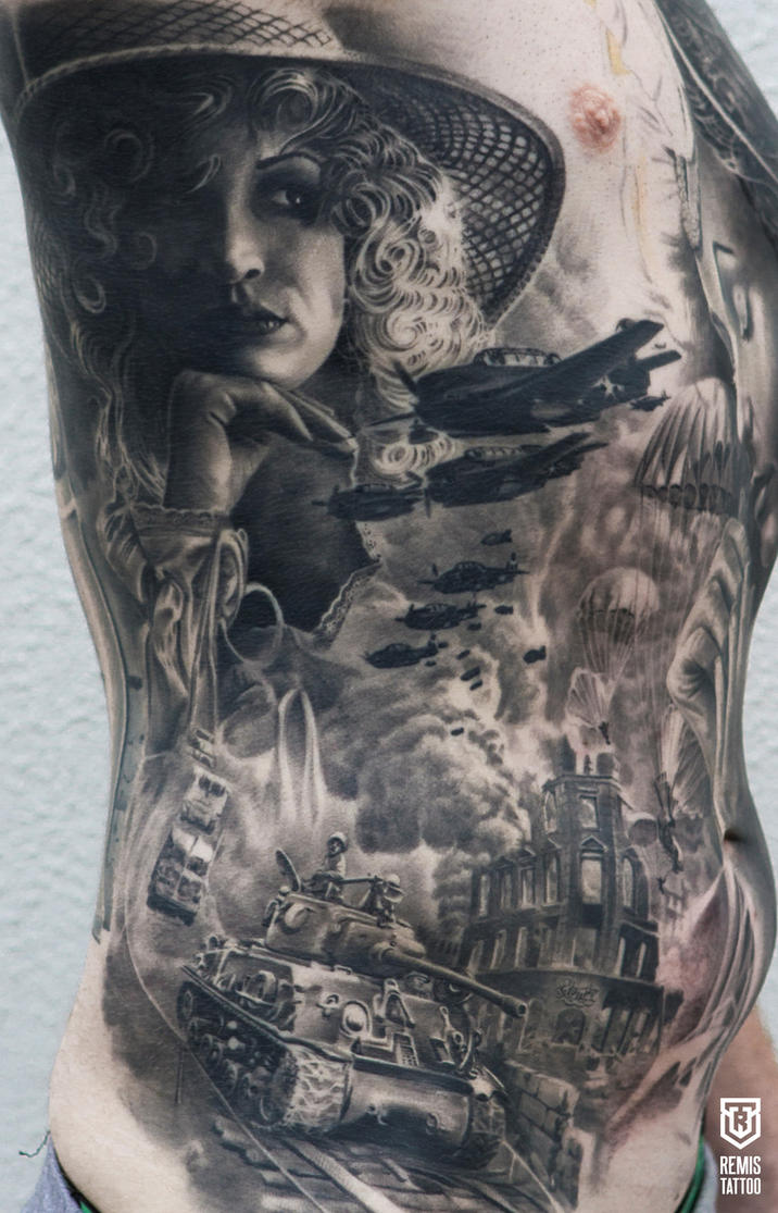 Realistic Black And Grey Tattoo by Remistattoo