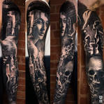 Realistic Black and Grey Sleeve