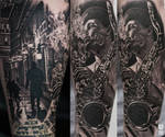 Realistic Music Tattoo