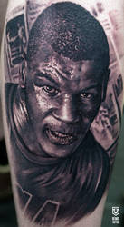 Realistic Mike Tyson Tattoo by Remistattoo