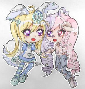Mio and Nana