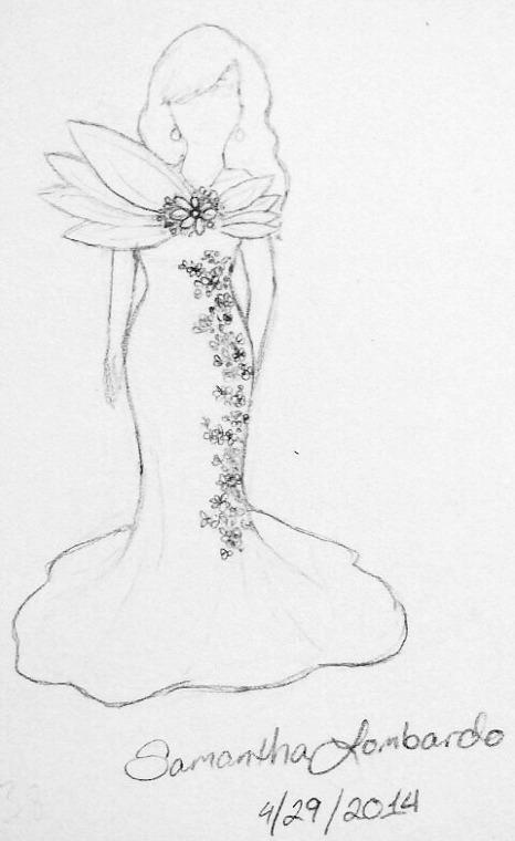 Dress drawing by Stlbluesgirl101