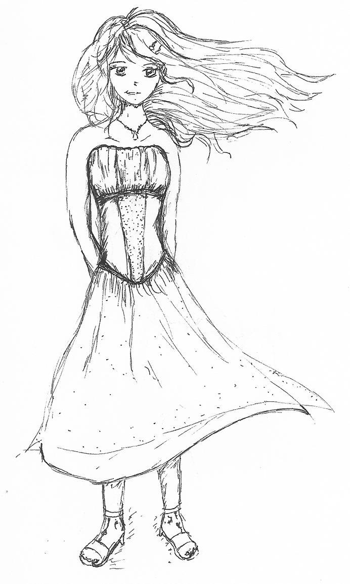 How To Draw Anime Girl Dress sleeveless dress manga...
