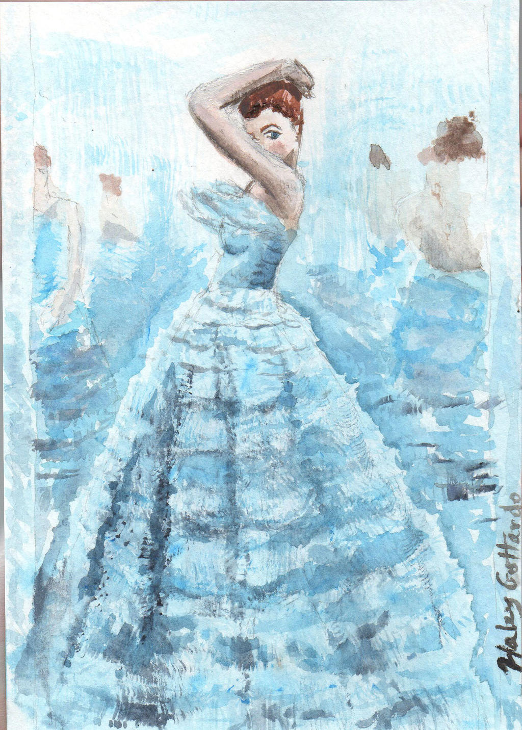 Book Cover Watercolor Dress : The selection cover in watercolor by haleygottardo on