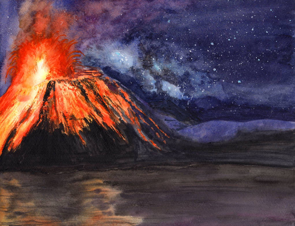 Volcano Under the Stars