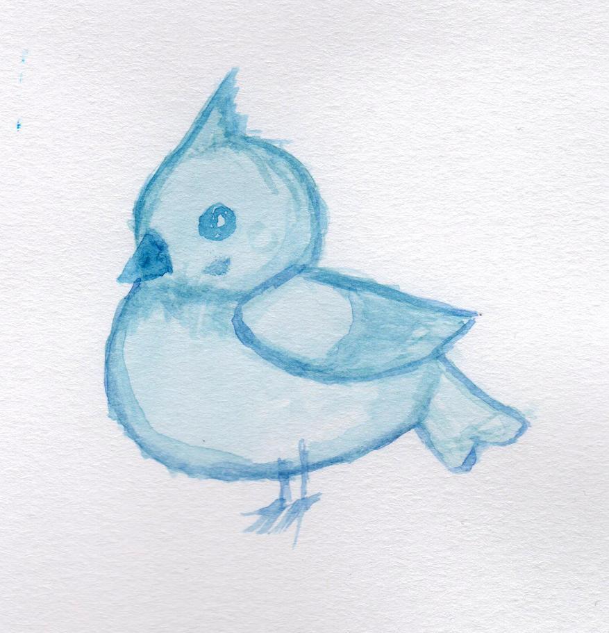 Cute Blue Bird by HaleyGottardo