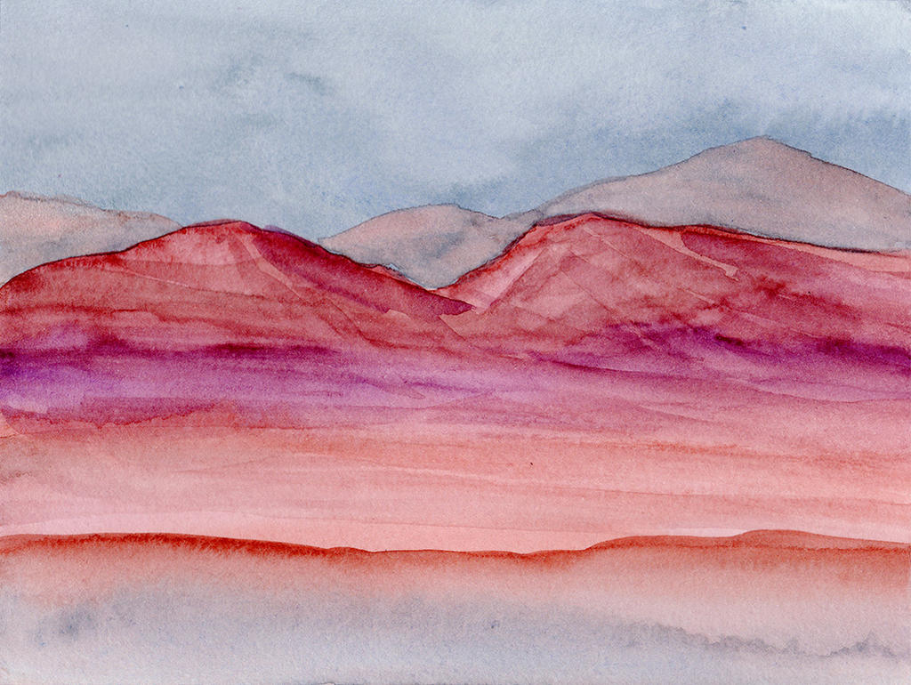 Painted Red Desert Buttes by HaleyGottardo