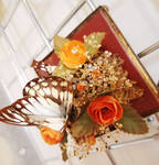 Butterfly and Faux Floral 1
