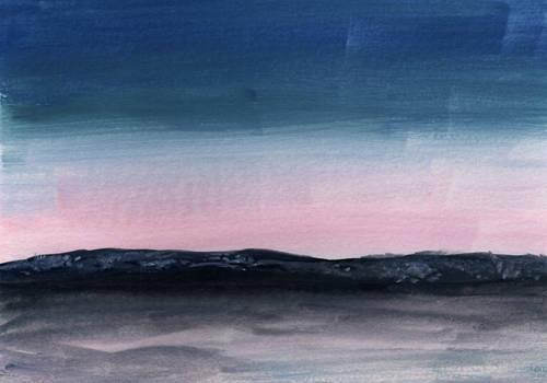 Pink Twilight in Watercolor