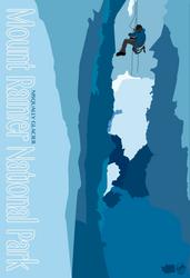 Mount Rainier National Park Poster. by Kickstarter