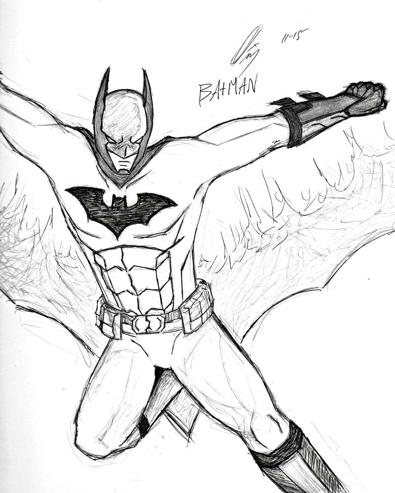 Batman Sketch by asianplatypus6