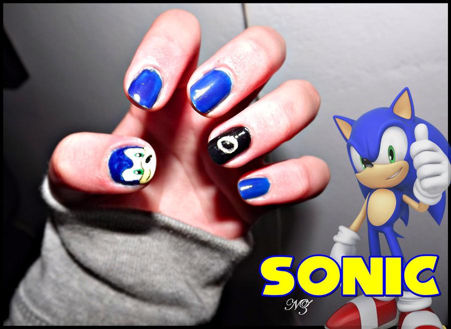 Sonic The Hedgehog Nail Art By Nathyzim On Deviantart
