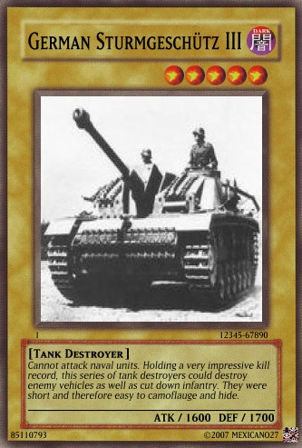 Sturmgeschutz III card by Mexicano27