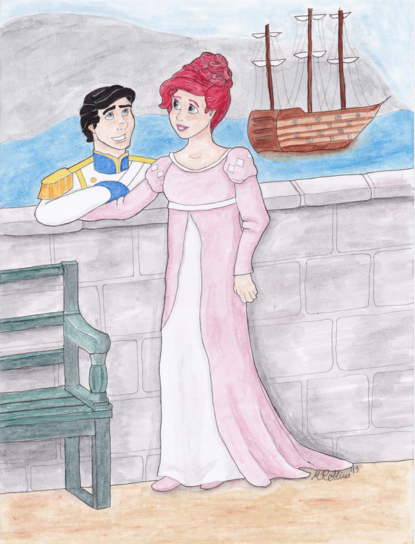 Regency Ariel and Prince Eric by aussieclown on DeviantArt