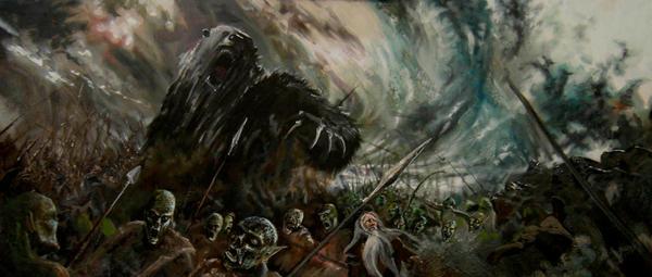 Beorn in Battle by book-illustrator