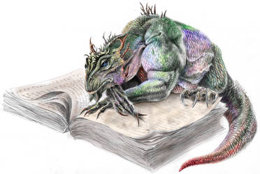 Sunshine Dragon by book-illustrator