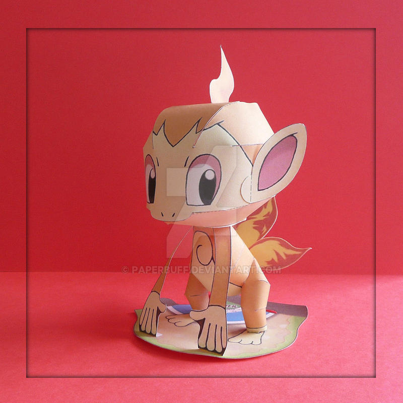 Pokemon Papercraft - Chimchar by PaperBuff