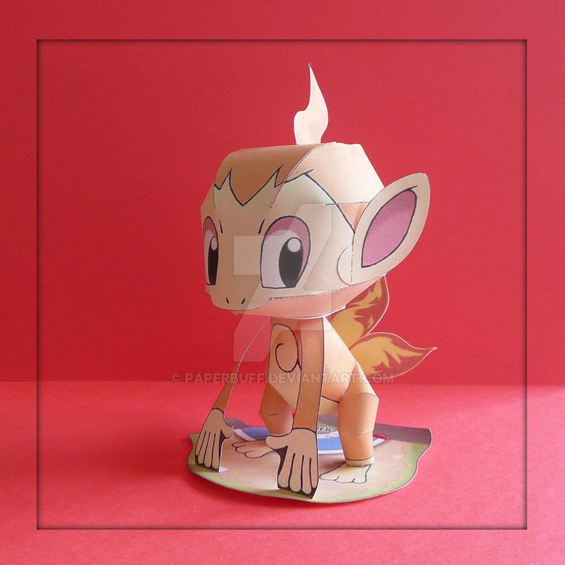 Pokemon Papercraft - Chimchar by PaperBuff