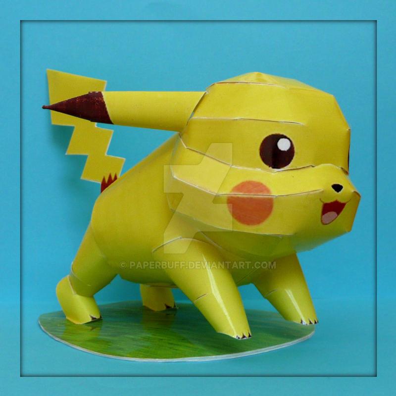 Pokemon Papercraft - Pikachu by PaperBuff