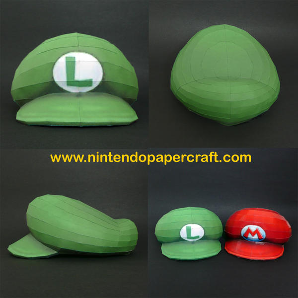 Luigi's Hat Papercraft by PaperBuff
