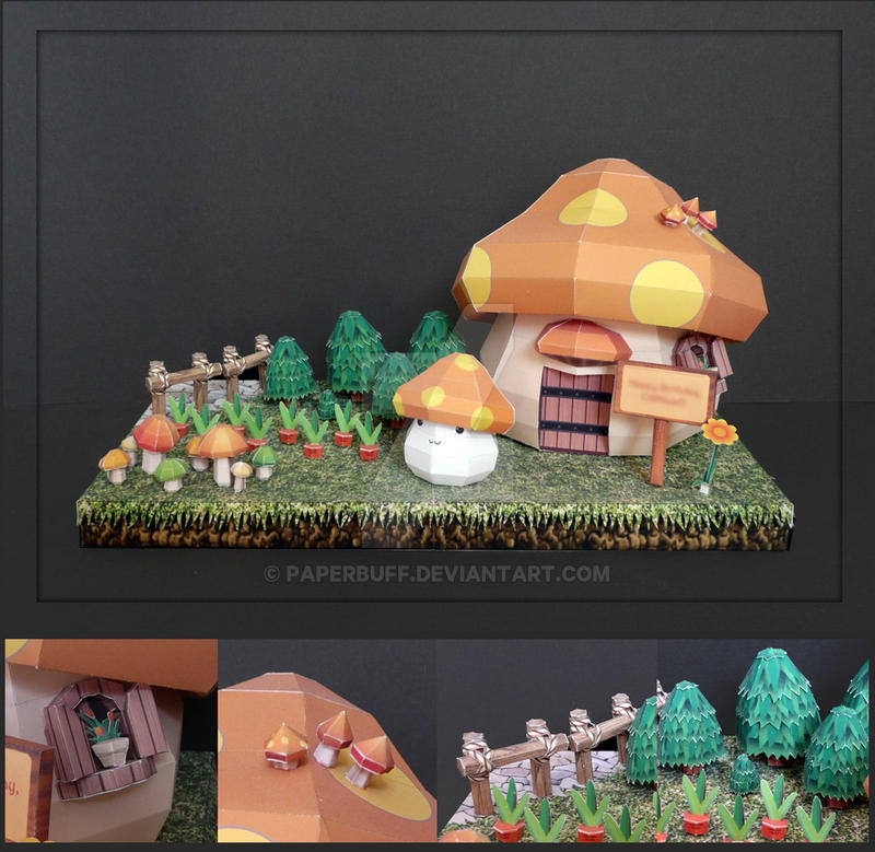 Maple Story House Papercraft