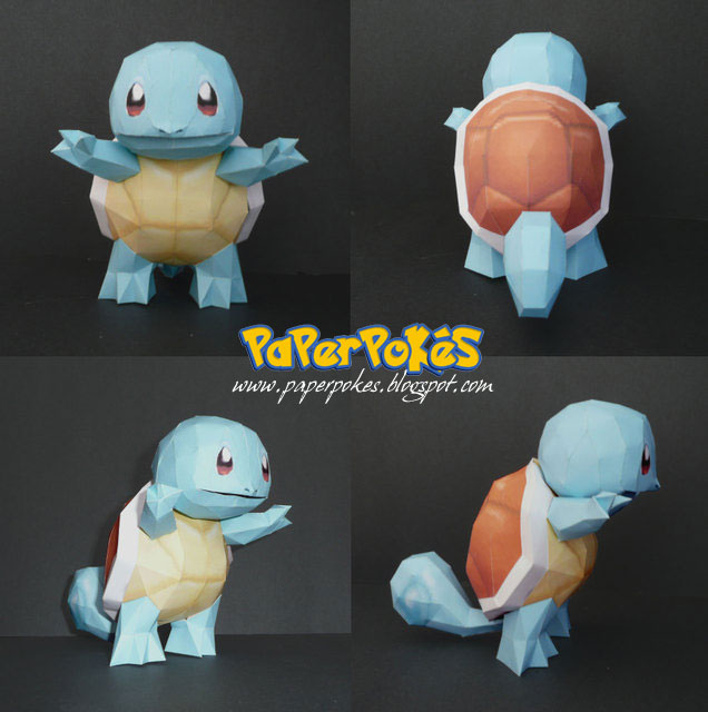 Pokemon Papercraft - Squirtle by PaperBuff