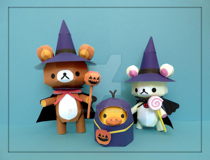 Rilakkuma Halloween Papercraft by PaperBuff