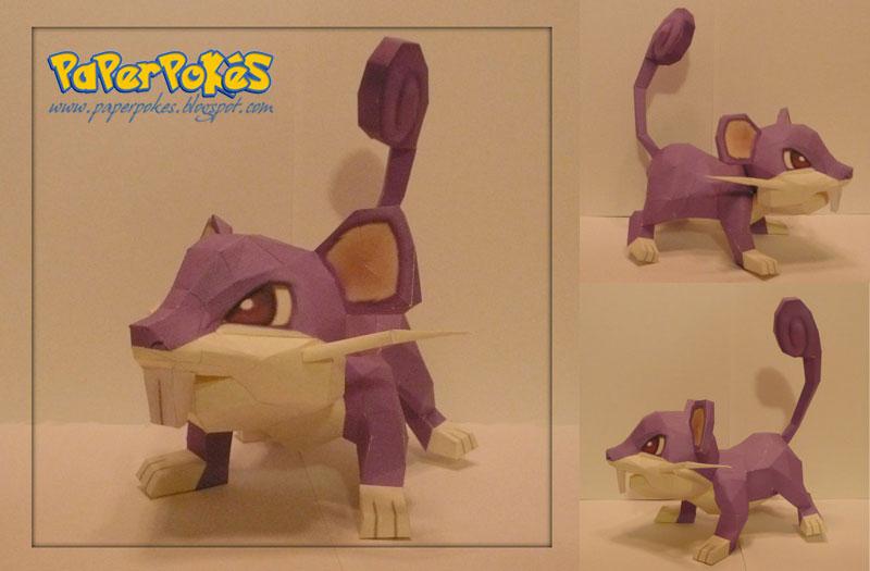 Pokemon Papercraft - Rattata by PaperBuff