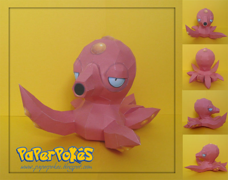 Pokemon Papercraft - Octillery by PaperBuff