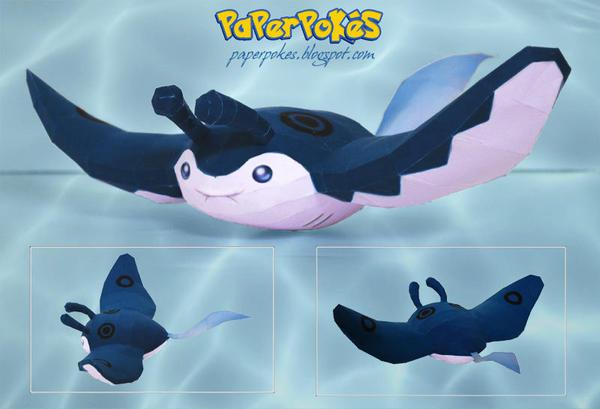 Pokemon  Papercraft - Mantine by PaperBuff