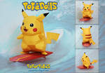 Surf Pikachu Doll Papercraft