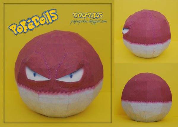 Voltorb Pokedoll Papercraft by PaperBuff