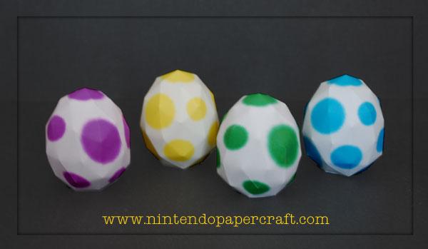 Yoshi Eggs Papercraft by PaperBuff