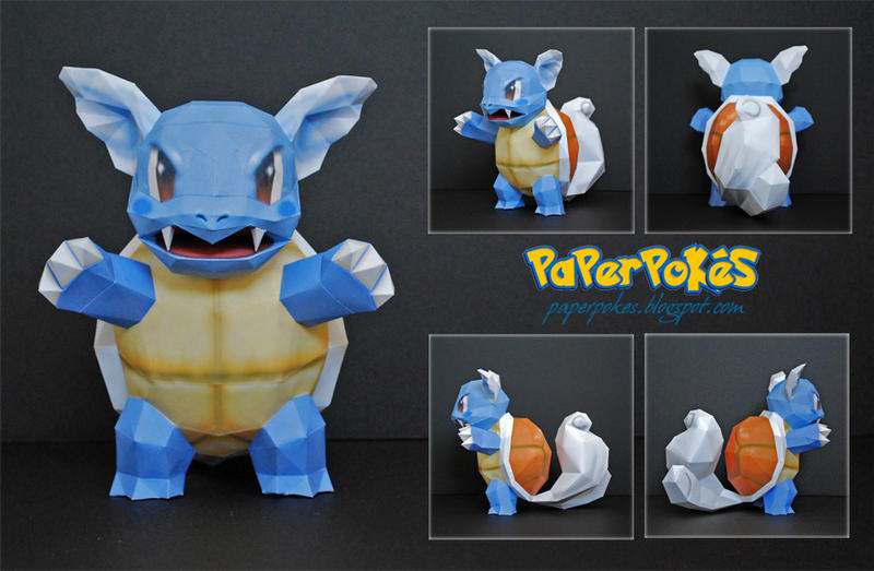 Pokemon Papercraft - Wartortle by PaperBuff