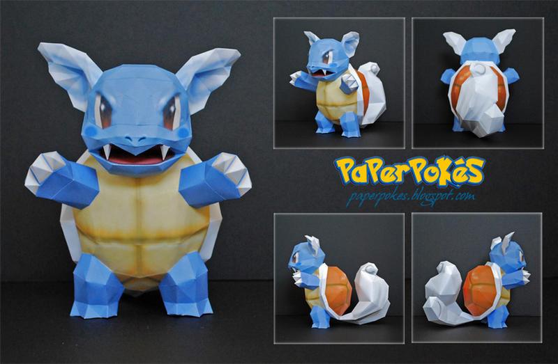 Pokemon Papercraft - Wartortle by PaperBuff