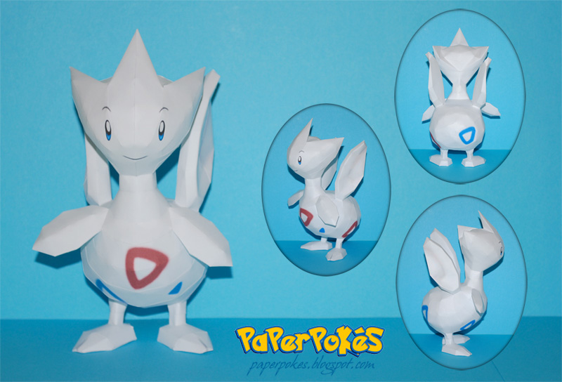 Pokemon Papercraft - Togetic by PaperBuff