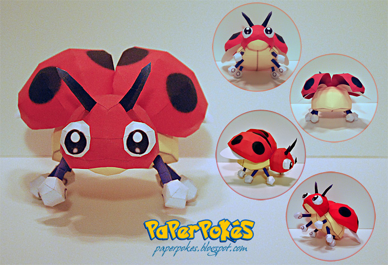 Pokemon Papercraft - Ledyba by PaperBuff