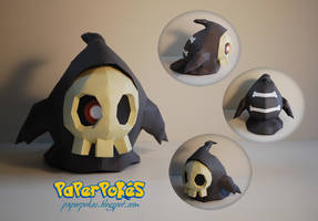 Pokemon Papercraft - Duskull by PaperBuff