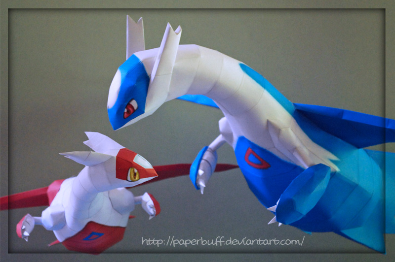 Latios and Latias Papercraft by PaperBuff