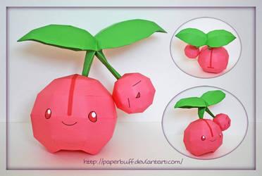 Pokemon Papercraft - Cherubi by PaperBuff