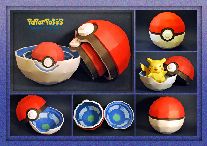 POKE BALL BOX Papercraft by PaperBuff