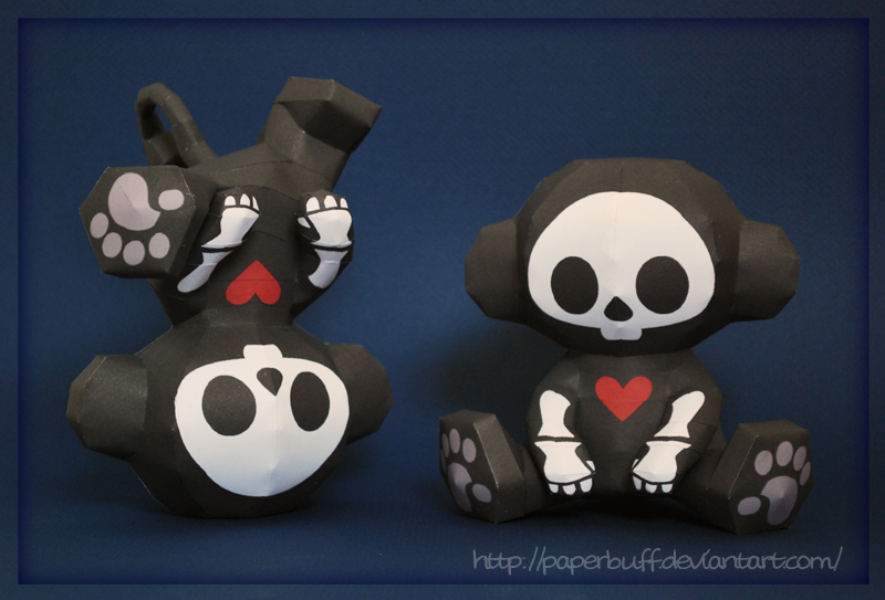Skelanimals Marcy Papercraft by PaperBuff
