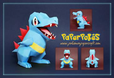 Pokemon  Papercraft - Totodile