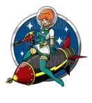 COMMISSION: Retrorocket Girl