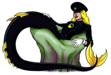 COMMISSION: Lady Blackhawk Mermaid