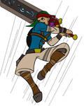 Talkin Sword Guy Action Shot