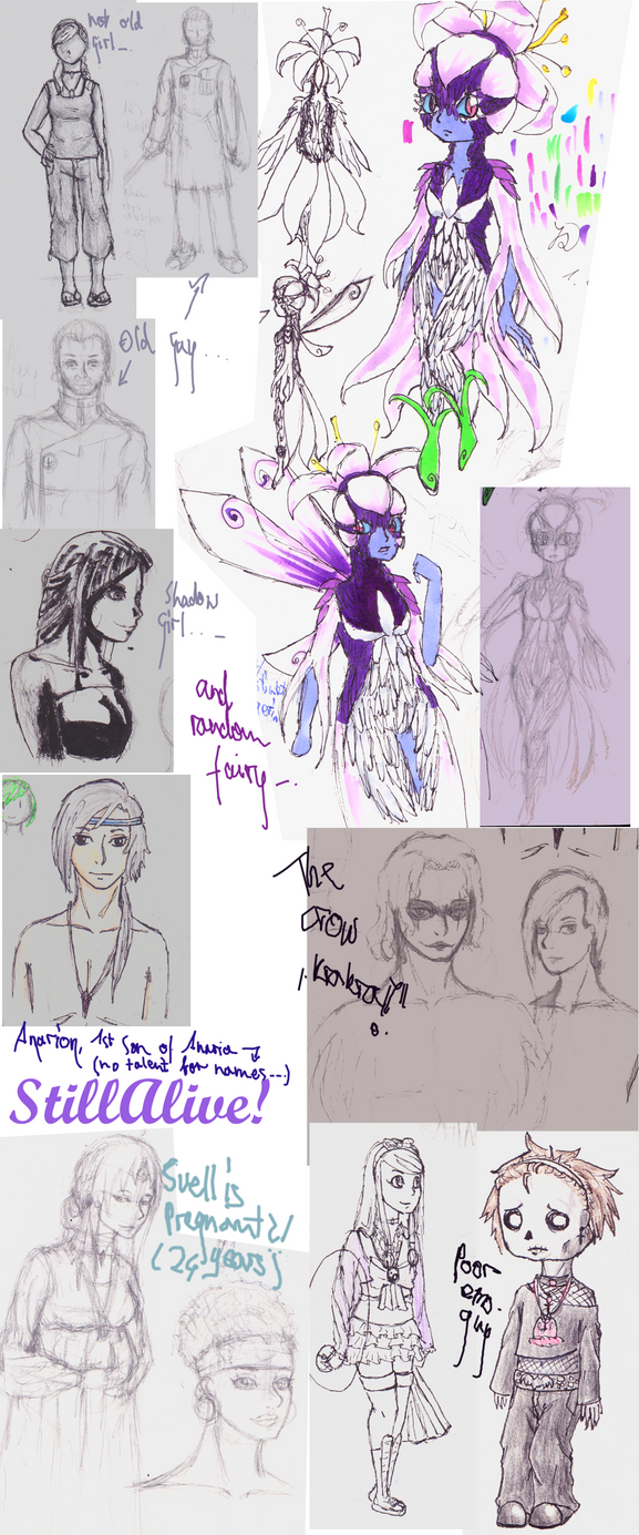 Sketchdump #3 by ninja-girl999