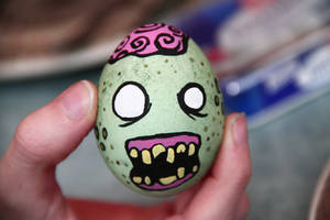 The egg zombie by Snaecka
