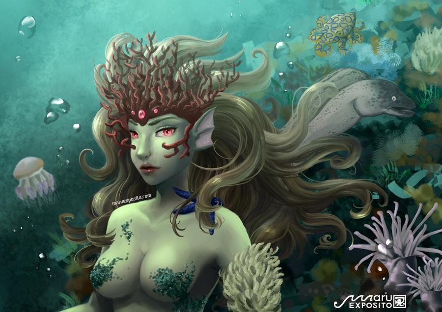 Ocean (Bad) Queen - Poison by MaruExposito